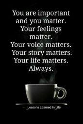 Feelings matter