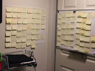 A memoir of post it notes