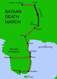 Death March route. Train portion was more nightmare.